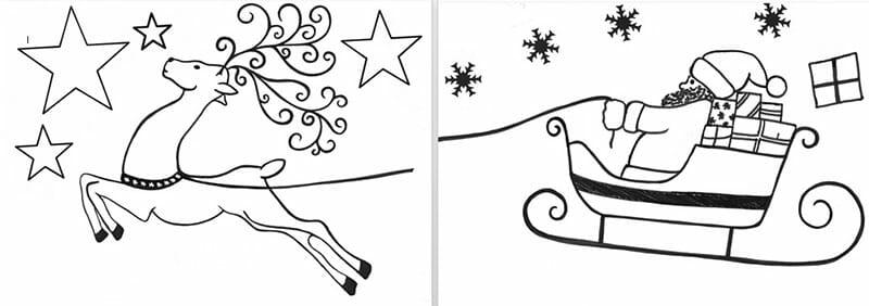 malvorlagen weihnachten fenster  malvorlagen