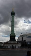 La Bastille (die Julisäule) wo einst die französische Revolution ihren Anfang nahm.