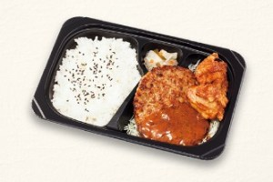 ガストのテイクアウト「ハンバーグ&若鶏の唐揚げ弁当」