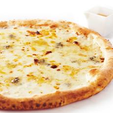 4種のチーズのピッツァ~イタリア産BIOのハチミツ付~
