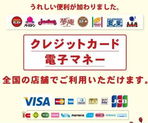 ガスト クレジットカード 電子マネー