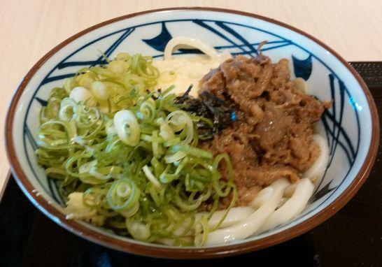 丸亀製麺の麦とろ牛ぶっかけ実物