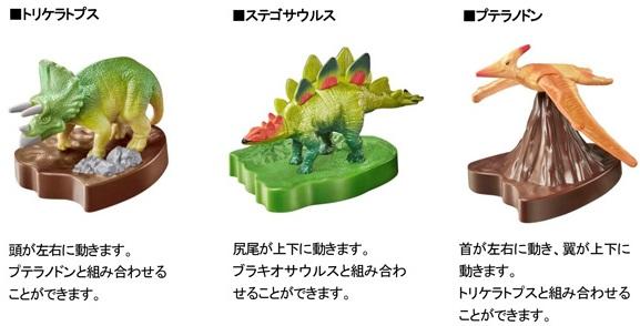マックのハッピーセット、アニア恐竜フィギュア2016年6月3日からの3種類