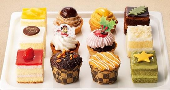 セブンイレブンのクリスマスケーキ2016「不二家 クリスマスプチケーキアソート(12個)」