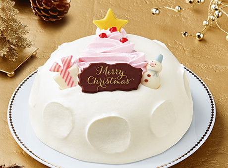セブンイレブンのクリスマスケーキ2016「クリスマスかまくら ~苺のツリー~」