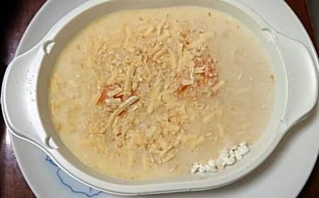 ニチレイえびとチーズのドリア加熱前