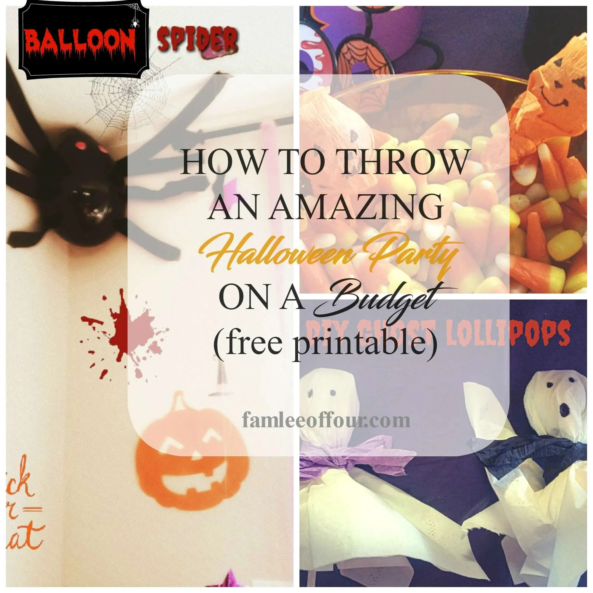 how to throw an amazing halloween party on a budget