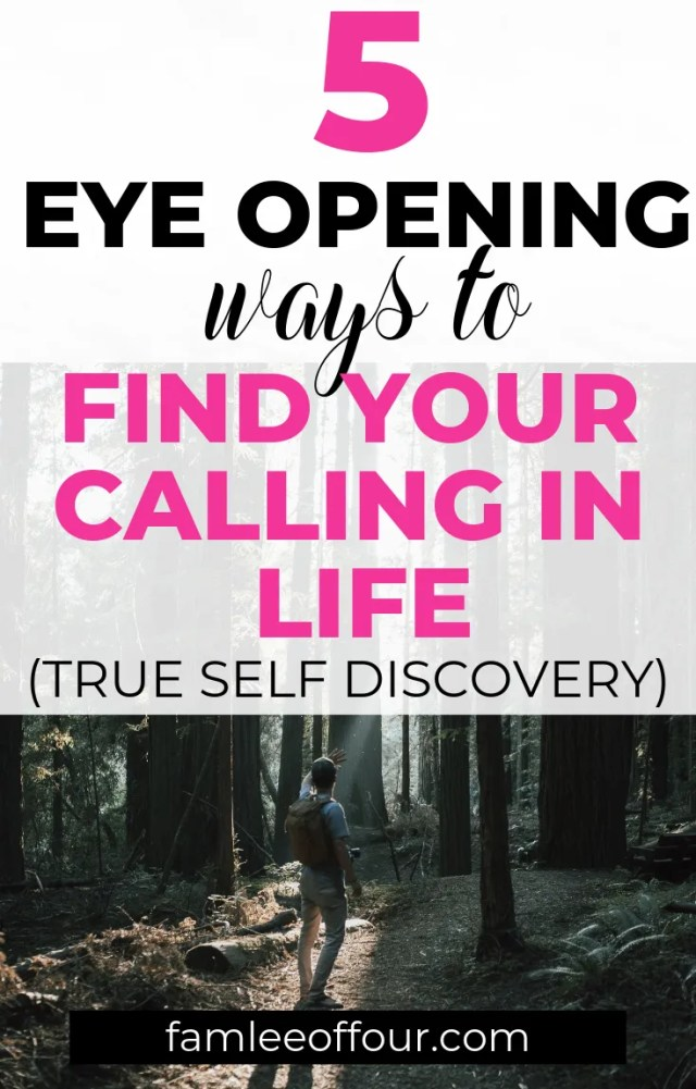 Looking for steps to get closer to your calling in life.