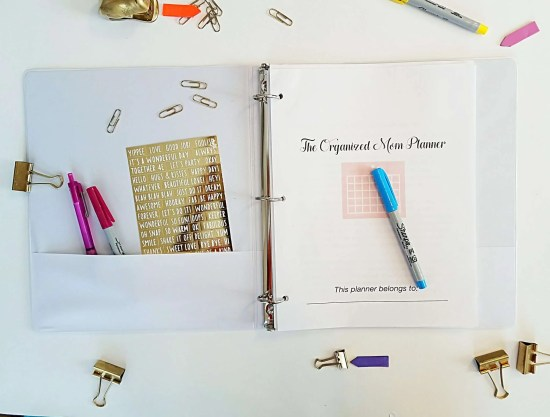 A home binder to help moms stay organized and inspired