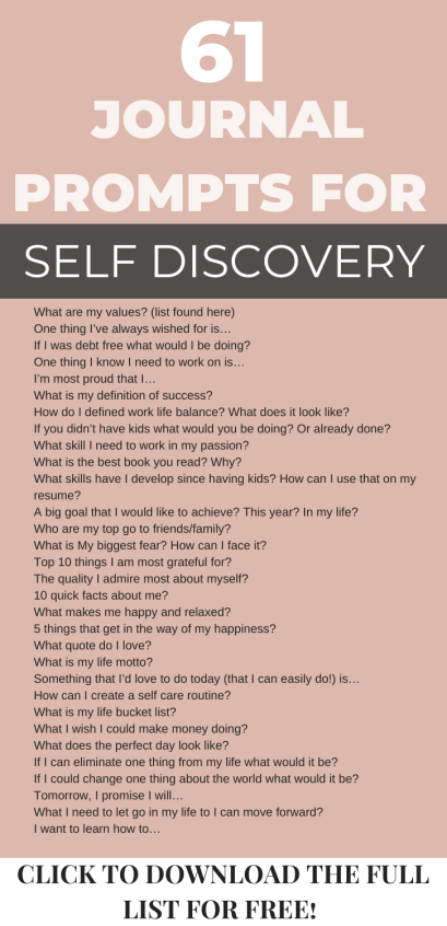 This year is different and you are committed to making positive changes in your life. But do you know the first step is discovering what you want. Understanding the things that makes you happy and creating a foundation from there. Click through for 61 insightful bullet journal prompts for self discovery. Personal Development| Self Help, bring you closer to the life you've always wanted, personal growth, journal questions #journalprompts #journalideas #journalquestions #personalgrowth #selfcare