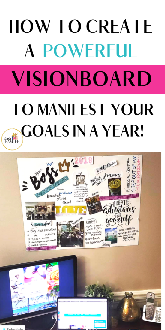 Manifest your goals quickly using the Vision Board strategy. Learn how to create a online vision board or physical dream board. Also get simple steps to apply the vision board so it actually works!