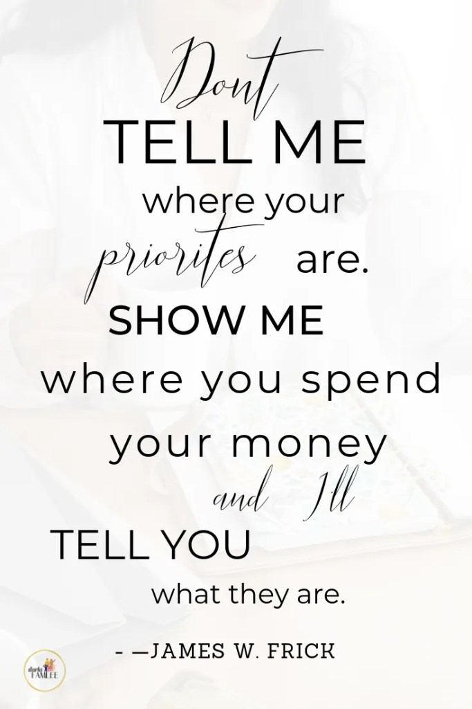A inspirational quote about how you manage your money
