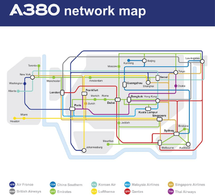 A380 network