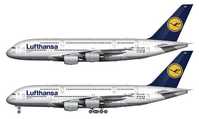 Lufthansa Airbus A380-800 Illustration