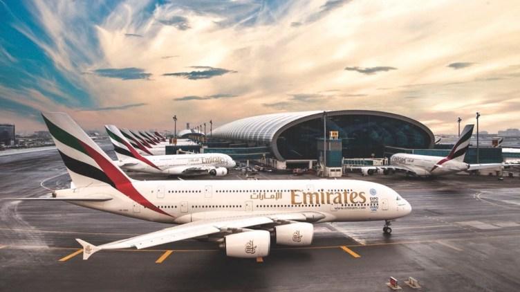Emirates Airbus A380 a Dubai