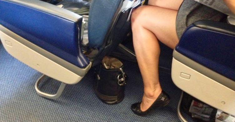 Lo spazio per le gambe a bordo del Airbus A320 di British Ariways.