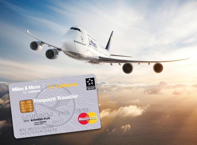 Lufthansa Boeing 747-8 e tessera Miles & More