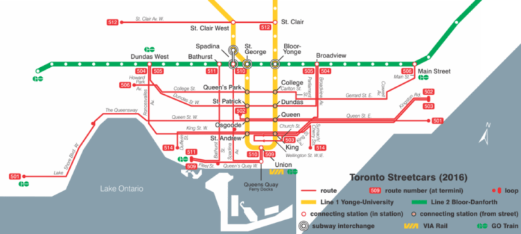 la mappa dei percorsi degli street car ©Craftwerker