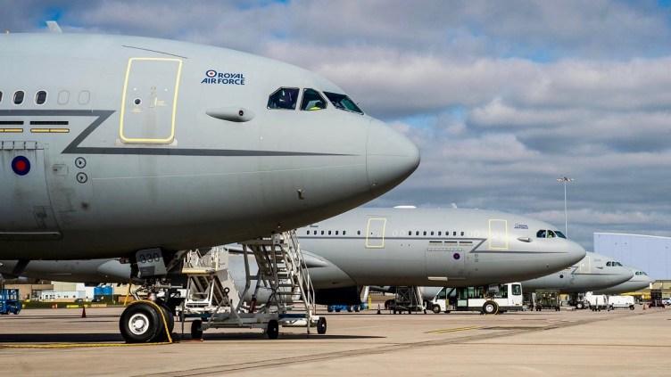 AirTanker Airbus A330 alla base RAF Brize Norton BZZ