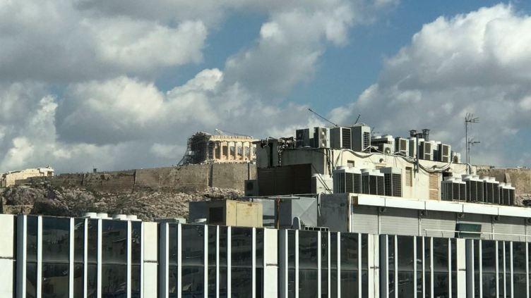 il Partenone visto dalla terrazza panoramica di EMST