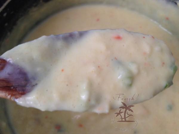 Sauce béchamel au crabe