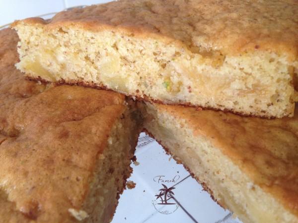 Gâteau à la pistache et aux pommes à tomber