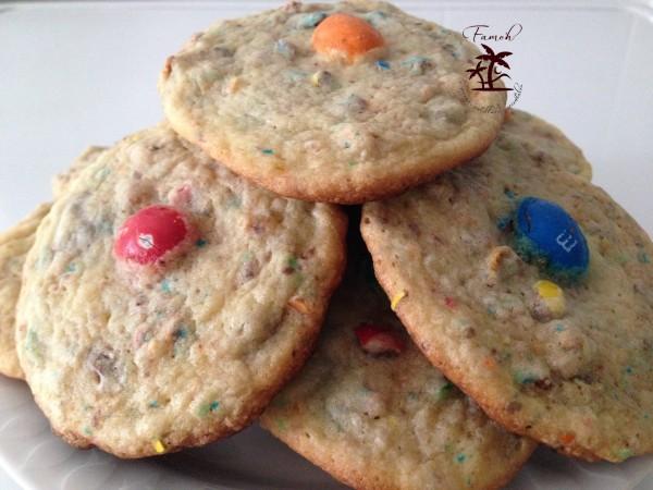 Cookies aux M&M's.