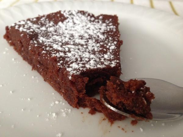 Gâteau chocolat et sans gluten.