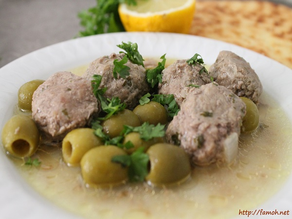 Dolma boulettes de viande et olives
