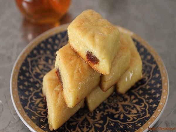 Makrout aux dattes cuit au four