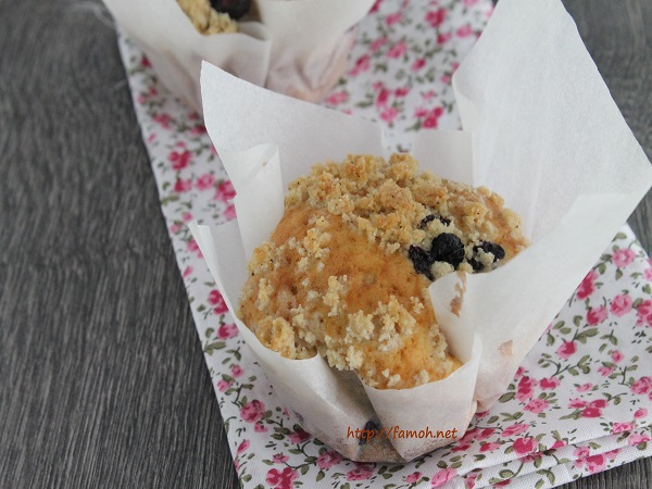 Muffin crumble myrtilles