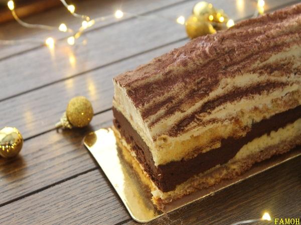 Bûche 2 chocolats