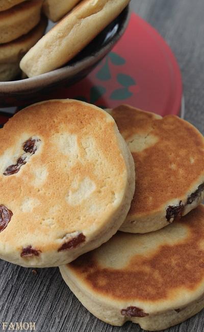 Welsh cakes aux raisins
