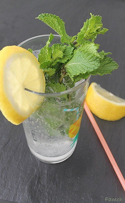 boisson rafraichissante citron menthe