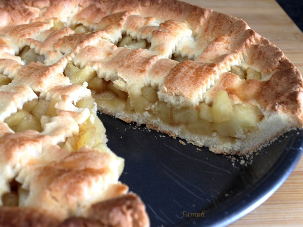 tourte pommes caramélisées