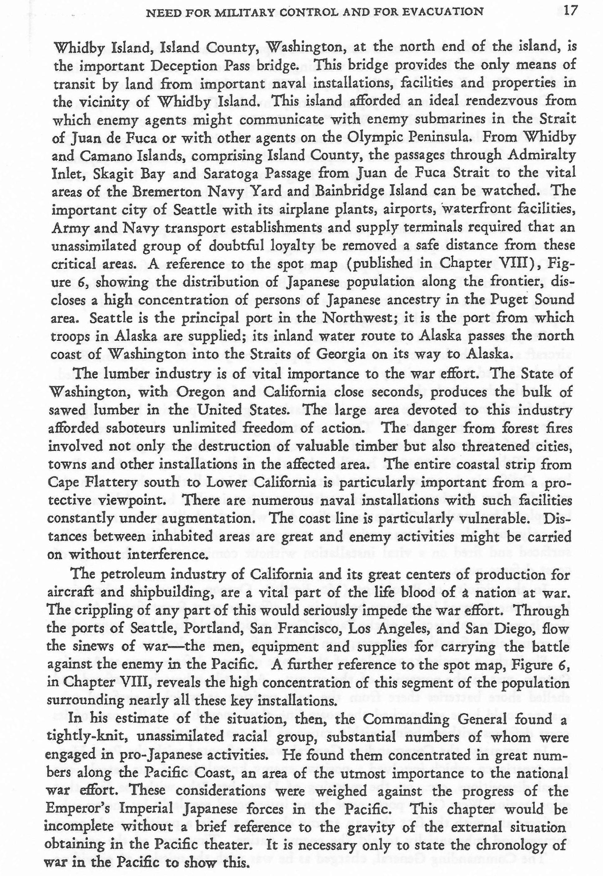 Gen Dewitt S Final Report On The Japanese Evacuation