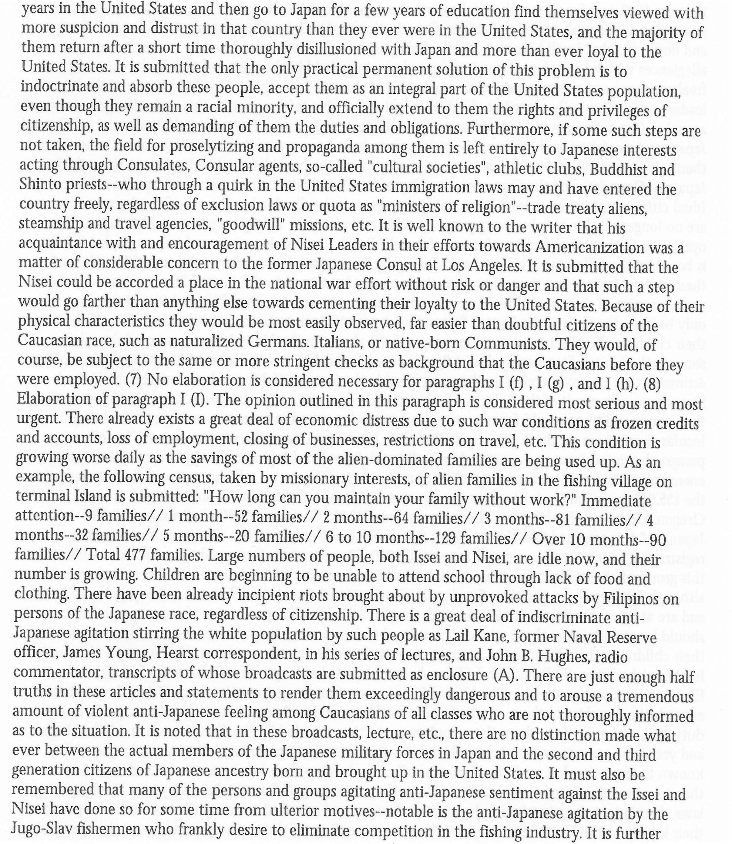 Ringle Report On Japanese Internment 12 30