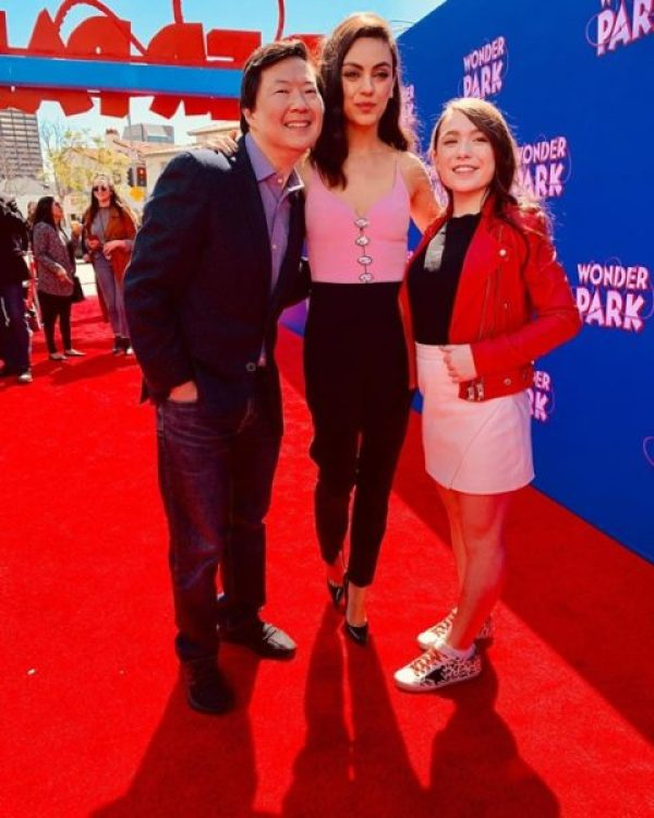 Brianna Denski with Wonder Park Cast