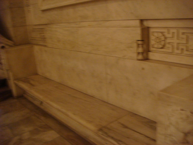 Brooke Astor bench in the NY Public Library