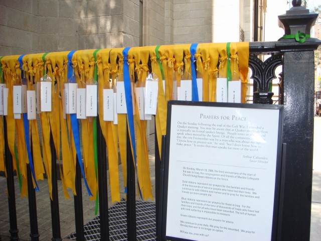 Ribbons on Marble Collegiate Church