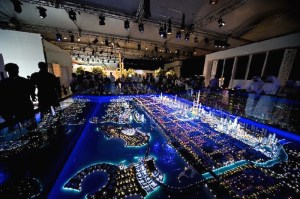 City Model Dubai lit up