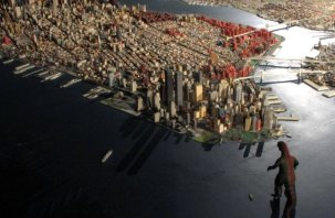 City Model NYC monster attack