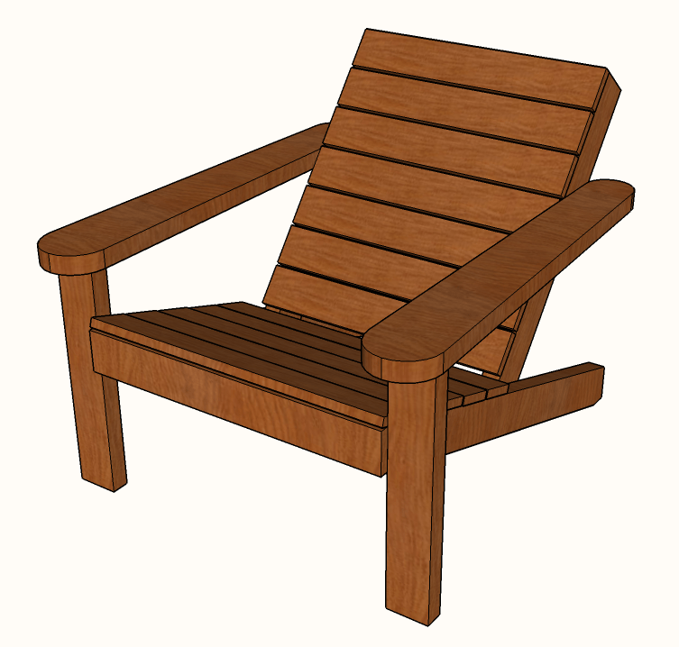 Astounding Free Diy Square Adirondack Chair Plans A Modern Design Home Remodeling Inspirations Propsscottssportslandcom