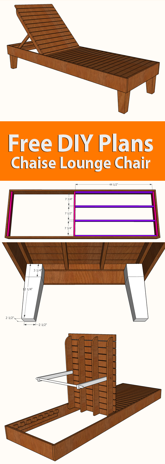 Diy Chaise Lounge Chair Plans 187 Famous Artisan