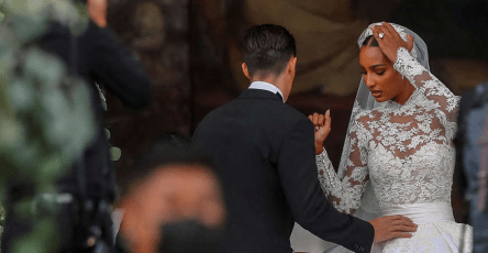 Wedding: 65 years after Grace Kelly, Jasmine Tookes puts on a wedding dress worthy of a princess 14