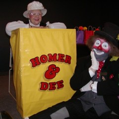 Don Burda as Homer with Dee