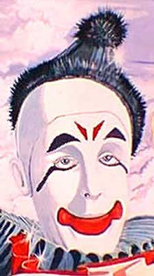 clown picture - painting of Paul Alpert, aka. Prince Paul