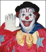 Rebo the clown, portrayed by Bev Bergeron