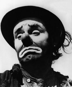 Portrait of Circus Clown Emmett Kelly