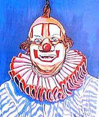 Painting of Bob Keeshan as Clarabell Hornblower for the 1990 Clown Hall of Fame induction